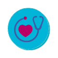 primary care heart and stethoscope is main icons for Las Palmas Medical Group